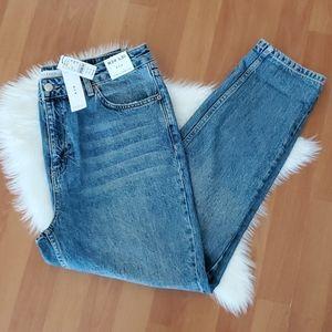 NWT Topshop high waisted mom jeans sz 12